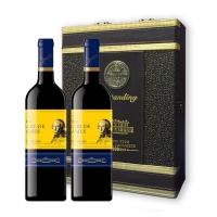 法国詹姆士伯爵干红葡萄酒皮双支礼盒