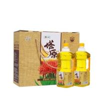 中粮塔原纯红花籽油礼盒1.8Lx2