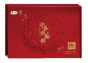 """中粮""""中茶红松韵""""大红袍茶礼盒"""