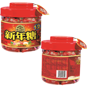 徐福记新年糖桶装550g