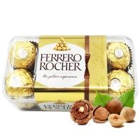 意大利进口Ferrero Rocher费列罗榛果威化糖果巧克力礼盒16粒